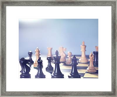 Chess Match Framed Print by Tek Image