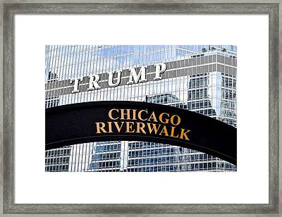 Chicago Riverwalk Framed Print by Frozen in Time Fine Art Photography