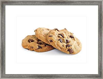 Chocolate Chip Cookies Framed Print by Elena Elisseeva