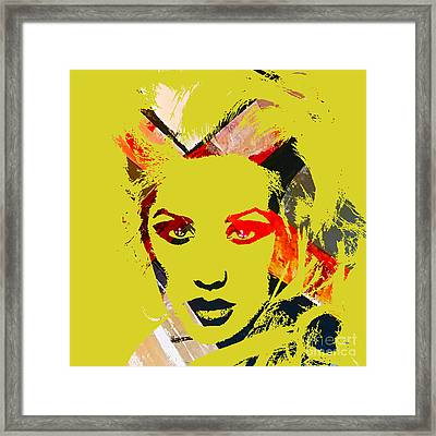 Christina Aguilera Collection Framed Print by Marvin Blaine