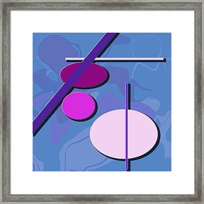3 Circle And 3 Lines 1 Framed Print by Kristy Jeppson