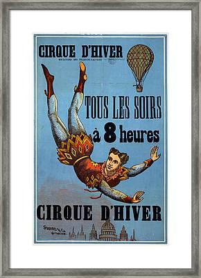 Circus Poster, C1890 Framed Print by Granger