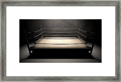 Classic Vintage Boxing Ring Framed Print by Allan Swart