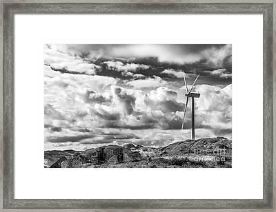 Clean Energy - Wind Turbines Framed Print by Jose Elias - Sofia Pereira