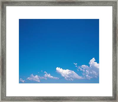 Clouds In Blue Sky Framed Print by Panoramic Images