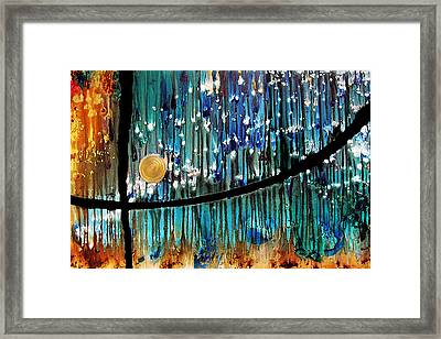 Colorful Abstract Framed Print by Sharon Cummings