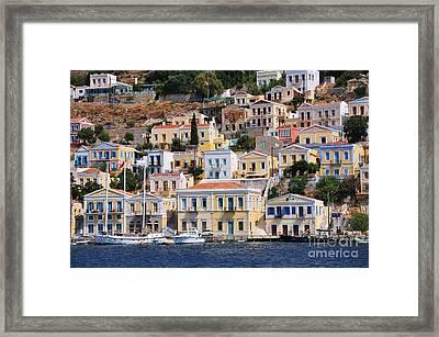 Colorful Symi Framed Print by George Atsametakis