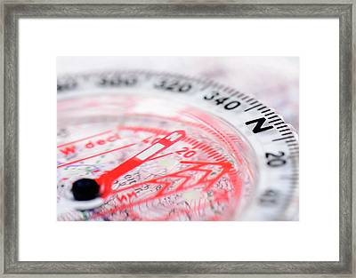 Compass Framed Print by Cordelia Molloy