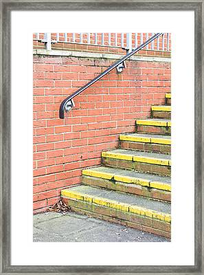 Concrete Steps Framed Print by Tom Gowanlock