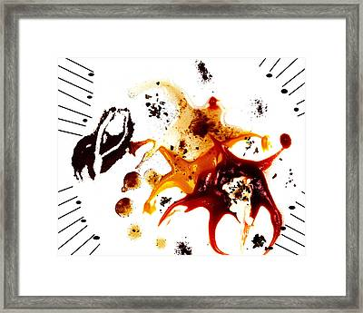Condiments Framed Print by Camille Lopez