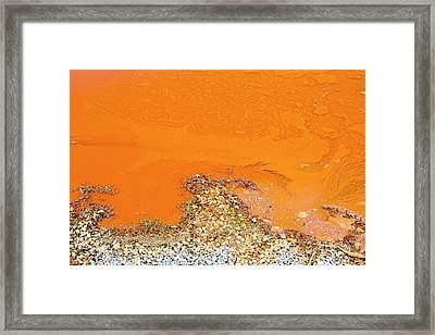 Contaminated Mine Effluent Framed Print by Ashley Cooper