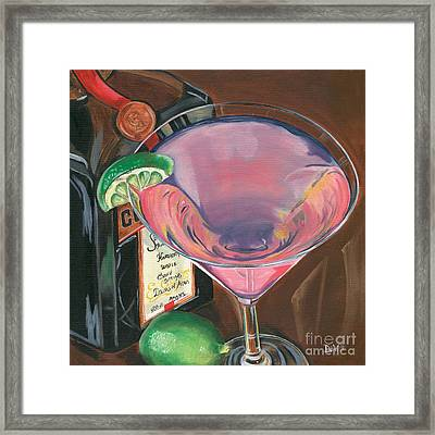 Cosmo Martini Framed Print by Debbie DeWitt