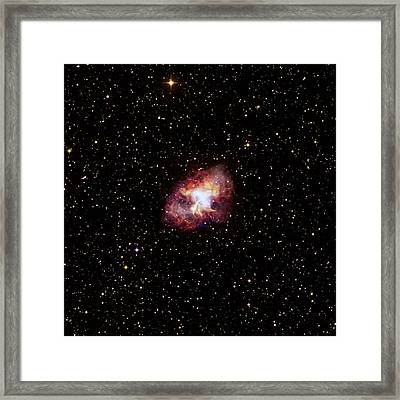 Crab Nebula Framed Print by Nasa/cxc/sao