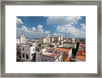 Cuba, Havana, Havana Vieja, Elevated Framed Print by Walter Bibikow