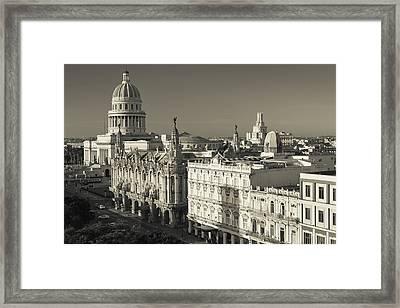 Cuba, Havana, Havana Vieja Framed Print by Walter Bibikow