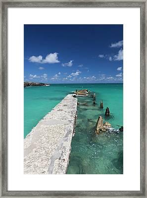 Cuba, Havana Province, Playas Del Este Framed Print by Walter Bibikow