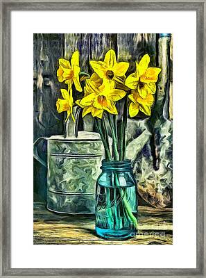 Daffodils Framed Print by Edward Fielding