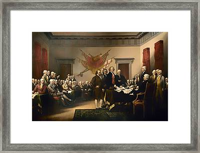 Declaration Of Independence Framed Print by Mountain Dreams