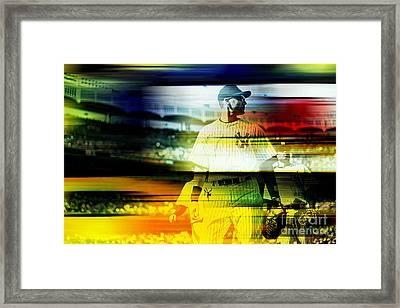 Derek Jeter Framed Print by Marvin Blaine