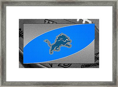 Detroit Lions Framed Print by Joe Hamilton