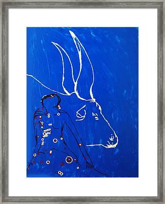 Dinka Livelihood - South Sudan Framed Print by Gloria Ssali