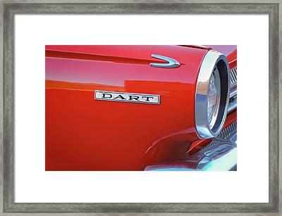 Dodge Dart Emblem Framed Print by Jill Reger