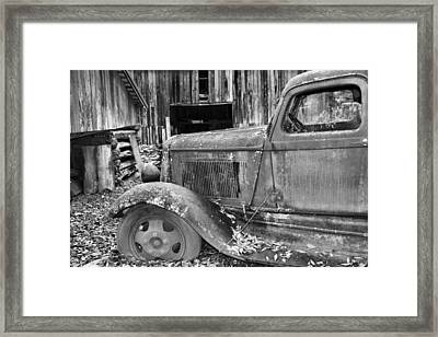 Dodge In The Country Framed Print by Dan Sproul