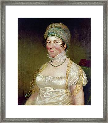 Dolley Payne Todd Madison (1768-1849) Framed Print by Granger