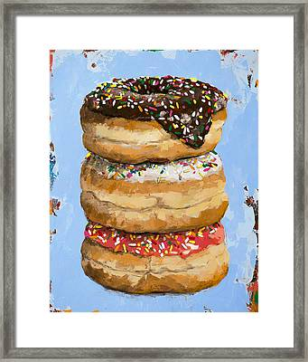 3 Donuts Framed Print by David Palmer