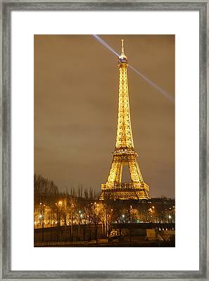Eiffel Tower - Paris France - 011318 Framed Print by DC Photographer