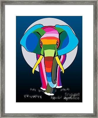 Elephant  Framed Print by Mark Ashkenazi