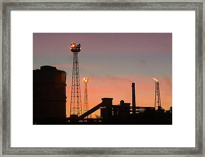 Emissions From The Corus Steelworks Framed Print by Ashley Cooper