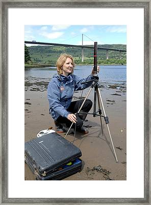 Environmental Radiation Monitoring Framed Print by Public Health England