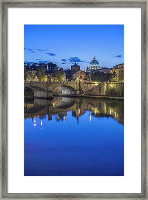Europe, Italy, Rome, Tiber River Framed Print by Rob Tilley