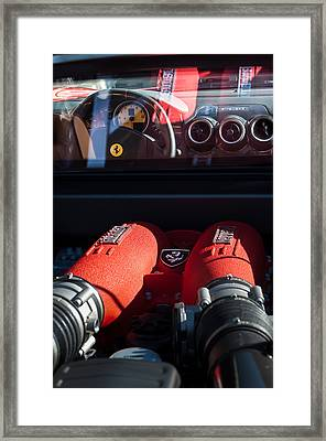 Ferrari Engine Framed Print by Jill Reger