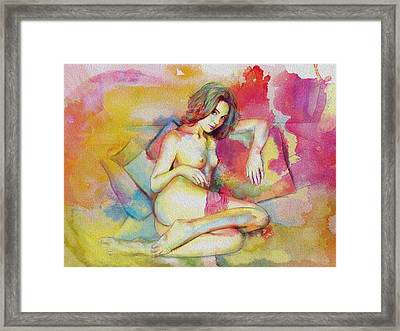 Figure Work Framed Print by Catf