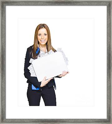 Financial Planning Framed Print by Jorgo Photography - Wall Art Gallery
