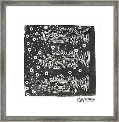 3 Fish Framed Print by Monica Warhol
