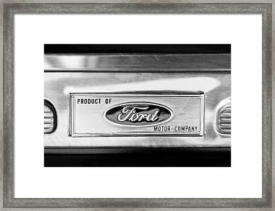 Powered By Ford Emblem -0307bw Framed Print by Jill Reger