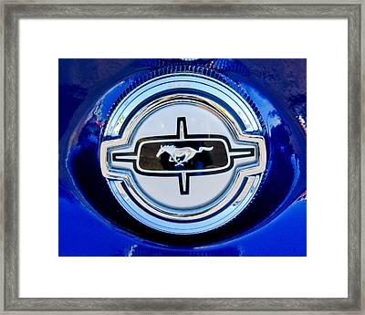 Ford Mustang Emblem Framed Print by Jill Reger