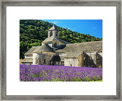 France, Provence, Seananque Abbey Framed Print by Terry Eggers