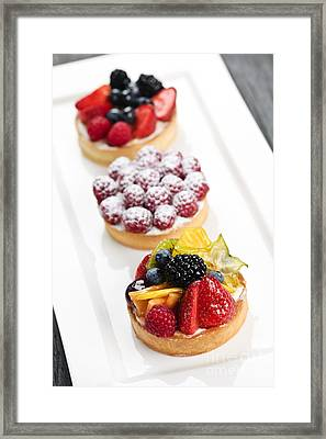 Fruit Tarts Framed Print by Elena Elisseeva