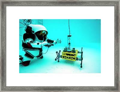 Gandolfi II Spacesuit Training Framed Print by Alexis Rosenfeld
