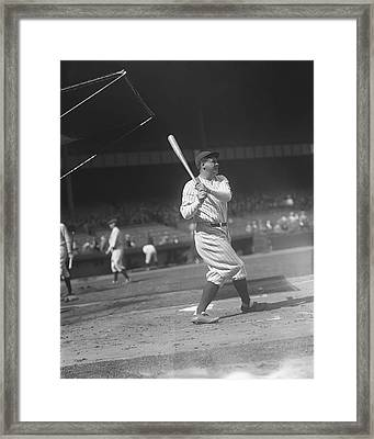 George H. Babe Ruth Framed Print by Retro Images Archive
