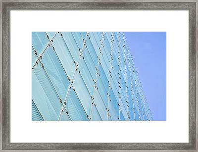 Glass Building Framed Print by Tom Gowanlock