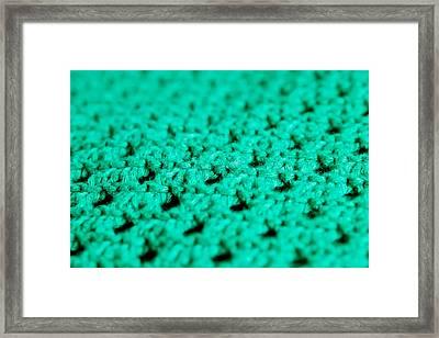 Green Wool Framed Print by Tom Gowanlock