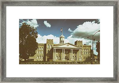 Hamilton County Courthouse Texas Framed Print by Mountain Dreams