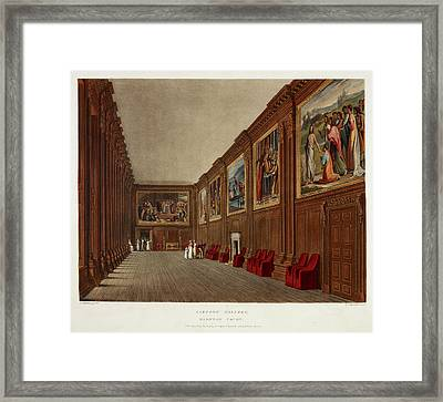 Hampton Court Framed Print by British Library