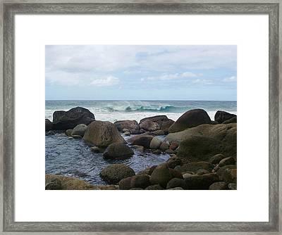 Hanakapi Ai Beach Framed Print by Ellen Henneke