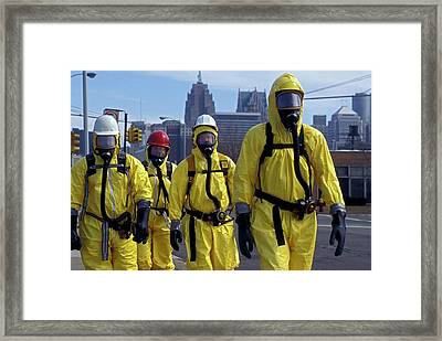 Hazardous Materials Cleanup Training Framed Print by Jim West